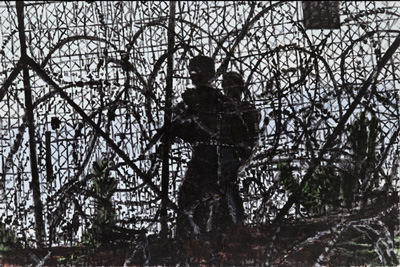 Barbedwire, David Reeb, 2007-2008 (acrylic on canvas)