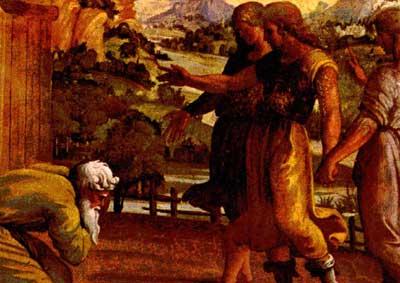 אברהם מקבל את פני המלאכים, רפאל