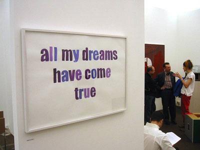עבודה של אניקה סטרום ב-Frieze Art Fair
