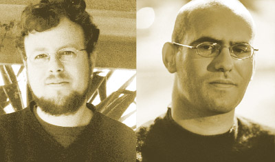מימין: אריק גלסנר, משמאל: דרור בורשטיין