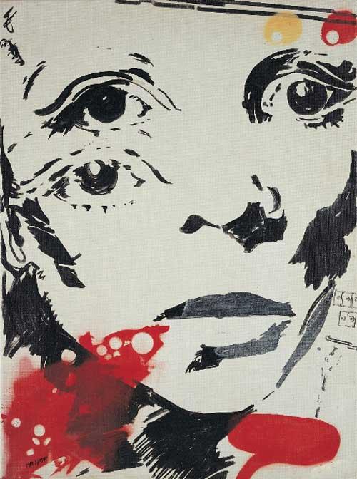 ציור של אביבה אורי, מתוך תערוכה בגלריה גורדון