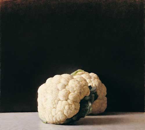ארם גרשוני - כרובית. שמן על לוח עץ, 2006