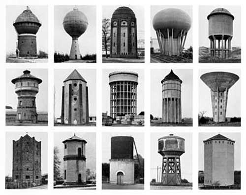 ברנד והילה בכר – מגדלי מים, 1980. תצלום ש/ל, הדפסת כסף