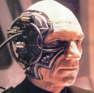 """קפטן ז'אן לוק פיקאר, מפקד ה-'אנטרפרייז' כ'בורג' מתוך הפרק, """"בורג""""/סטאר-טרק"""