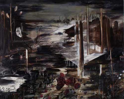 נגה אנגלר, Dusk, 2007. שמן על בד.