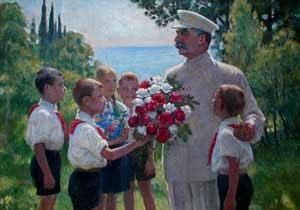 """ולדימירסקי, """"שושנים לסטלין"""", 1949"""